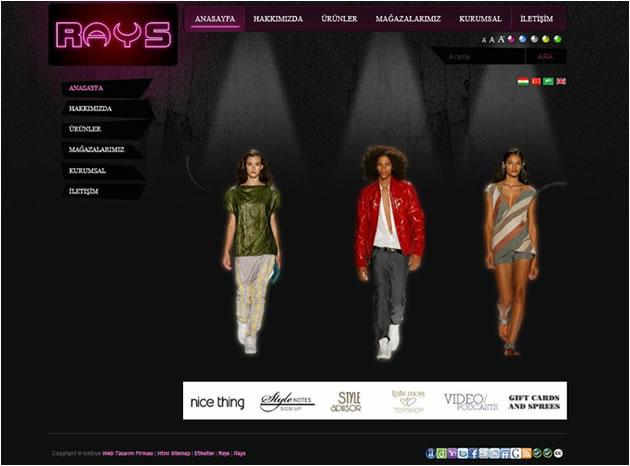 rays-giyim-web-tasarim-projesi
