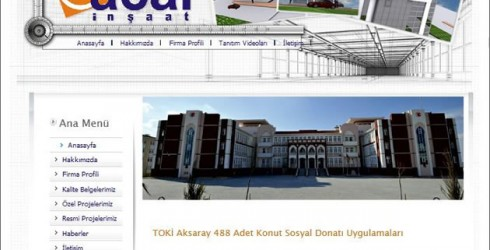 İnşaat Web Tasarım Sitesi