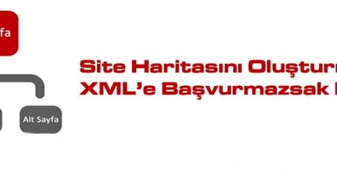 Site Haritaları Oluşturmak İçin XML'e Başvurmazsak Ne Olur