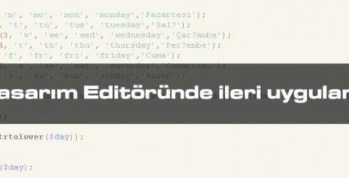 Web Tasarım Editöründe İleri Uygulama Nedir?