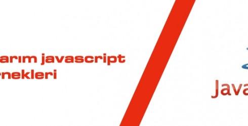 Web Tasarım Javascript  Örnekleri