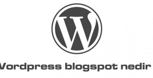 WordPress Blogspot Nedir ?