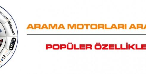 Arama Motorları Araçlarının Popüler Özellikleri