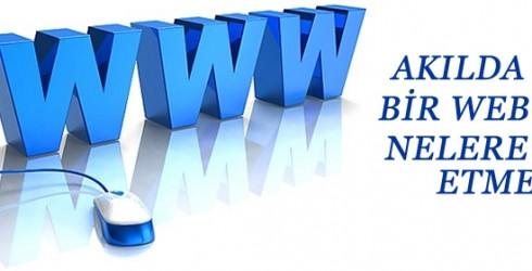 Akılda Kalıcı Bir Web Sitesinde Nelere Dikkat Edilmeli?