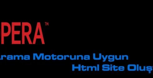 Arama Motoruna Uygun Html Sitesi