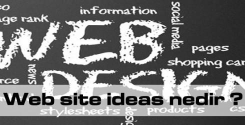 Web site ideas nedir?