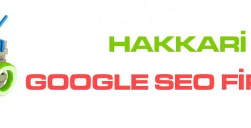Hakkari Google Seo Firması